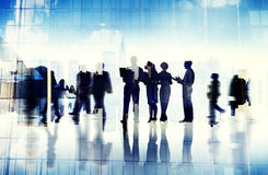 Abstract Image of Business People's Busy Life.  Royalty Free Stock Image
