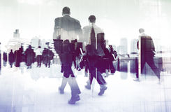 Abstract Image of Business People Walking on the Street Concept Royalty Free Stock Photo