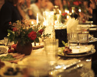 Abstract image of a celebratory table Royalty Free Stock Photography