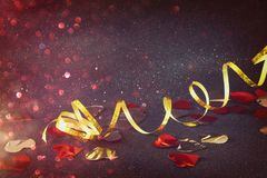 Abstract image of christmas festive ribbon decoration Stock Photography