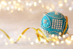 abstract Image of christmas festive tree ball decoration Royalty Free Stock Photo