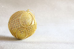 abstract Image of christmas festive tree ball decoration Royalty Free Stock Photos
