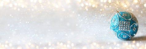 abstract Image of christmas festive tree ball decoration Stock Image