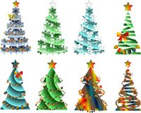 Abstract image,Christmas tree with decorations. Stylized Christmas Tree,New Year Royalty Free Illustration