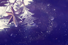 Abstract image of Christmas tree garland lights Stock Images