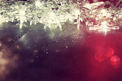 Abstract image of Christmas tree garland lights Royalty Free Stock Images