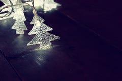 Abstract image of Christmas tree garland lights Stock Photo