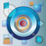 The  abstract image with circles Stock Image
