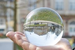 city in a crystal ball stock photos