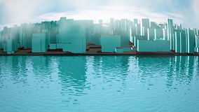 Abstract image of city landscape Royalty Free Stock Photos