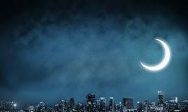 Night view of modern cityscape. royalty free stock photography