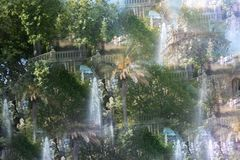 Abstract image of the Ciutadella Park stock image