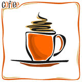 Abstract image of a coffee cup Royalty Free Stock Photo