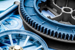 Abstract image of a cog and wheel Royalty Free Stock Photos