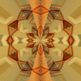 Abstract image, colorful graphics, tapestry. Circular ornament Stock Photo