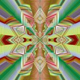 Abstract image, colorful graphics, tapestry. Circular ornament Royalty Free Stock Image