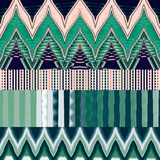 Abstract image, colorful graphics, tapestry. Horizontal pattern Royalty Free Stock Photography