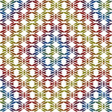 Abstract image, colorful graphics, tapestry. Symmetrical ornament Stock Photography