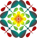 Abstract image, colorful graphics, tapestry. Symmetrical ornament Royalty Free Stock Photo