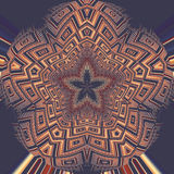Abstract image, colorful graphics, tapestry. Symmetrical ornament Royalty Free Stock Photos