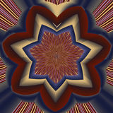 Abstract image, colorful graphics, tapestry. Symmetrical ornament Stock Image