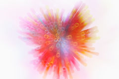 Abstract image of Colorful light explode Stock Images