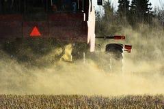 Working Combine Harvester stock image