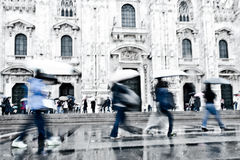 Abstract image of commuters in Milan Royalty Free Stock Image