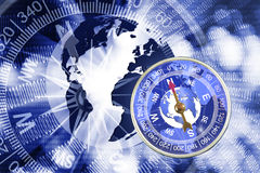 Abstract image of compass and planet close up Stock Photo