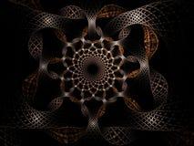 Abstract image of a vibrating circle of woven ribbons. Stock Image