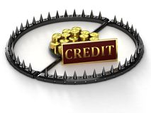 An abstract image of credit slavery. Trap with bait in the form of money. An abstract image of credit slavery Royalty Free Stock Photo