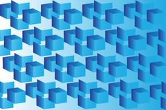 Abstract image of cubes background in blue Stock Photography