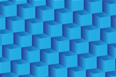 Abstract image of cubes background in blue Stock Images