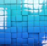 Abstract image of cubes background. In blue toned Royalty Free Stock Photography