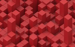 Abstract image of cubes background. 3d illustration. Royalty Free Stock Photography