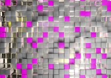 Abstract image of cubes background in pink toned Stock Images