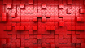 Abstract image of cubes pattern background with perspective. Random levels. wallpaper Stock Photo