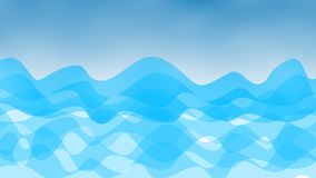 Abstract Waves in Blue Background. Abstract image of curling waves in blurry blue background for web design, wallpaper, backdrop, postcard and poster stock photo