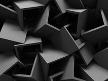 Abstract image of dark grey cubes background. 3d render illustration Royalty Free Illustration