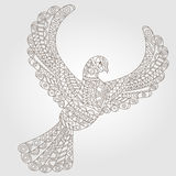 Abstract image of a dove patterned, dark outline on a light background Stock Photo