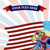Abstract image of an eagle, a symbol of the United States. Vector stock illustration
