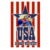 Abstract image of an eagle, a symbol of the United States. Vector vector illustration