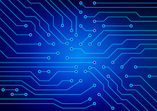 The abstract image of electrical circuits used in various devices Stock Image