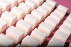 Abstract image of evenly spaced sugar cubes.  royalty free stock image