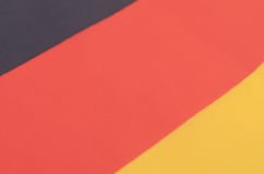 Abstract image of a fragment of the flag of Germany. Royalty Free Stock Photos
