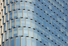 Abstract Image a glass building exterior Royalty Free Stock Image