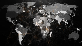Abstract image of global networks in the world in the form of plexus Royalty Free Stock Photos