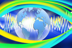 Abstract image of the globe close-up Royalty Free Stock Photos