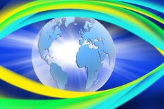 Abstract image of the globe close-up Royalty Free Stock Image