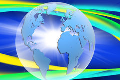 Abstract image of the globe close-up Stock Images